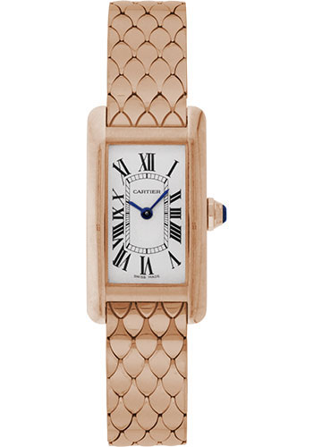 Cartier Watches - Tank Americaine Small - Pink Gold - Style No: W2620031
