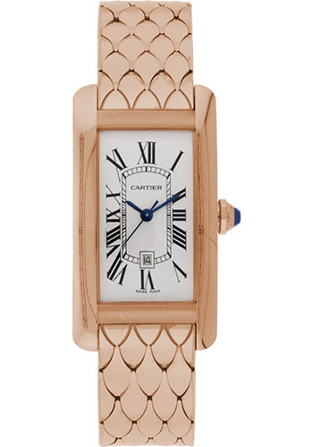 Cartier Watches - Tank Americaine Medium - Pink Gold - Style No: W2620032