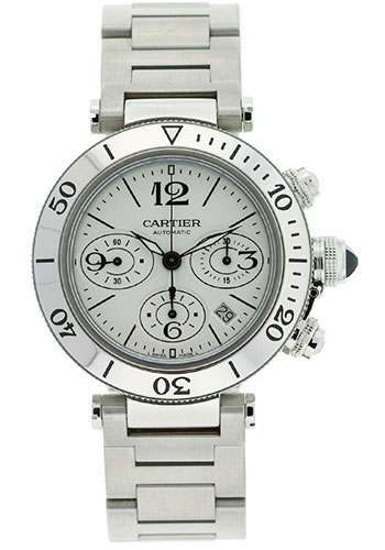 Cartier Watches - Pasha Seatimer Chronograph 42.5 mm - Style No: W31089M7