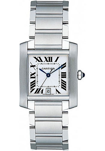 Cartier Watches - Tank Francaise Large - Stainless Steel - Style No: W51002Q3