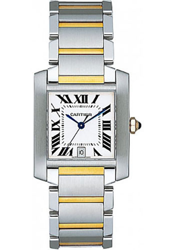 Cartier Watches - Tank Francaise Large - Steel and Yellow Gold - Style No: W51005Q4