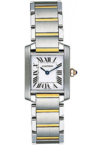 Cartier Watches - Tank Francaise Small - Steel and Yellow Gold - Style No: W51007Q4