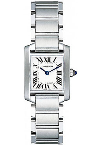 Cartier Watches - Tank Francaise Small - Stainless Steel - Style No: W51008Q3