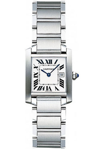 Cartier Watches - Tank Francaise Medium - Stainless Steel - Style No: W51011Q3