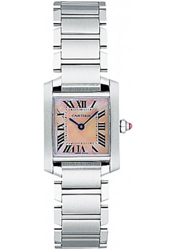 Cartier Watches - Tank Francaise Small - Stainless Steel - Style No: W51028Q3