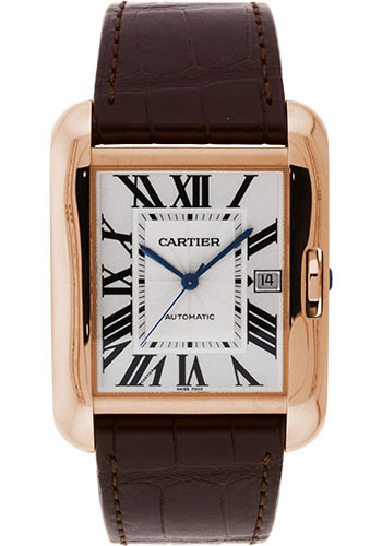 Cartier Watches - Tank Anglaise Pink Gold - Alligator Strap - Style No: W5310004