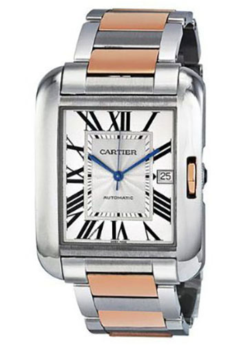 Cartier Watches - Tank Anglaise Stainless Steel and Pink Gold - Style No: W5310006