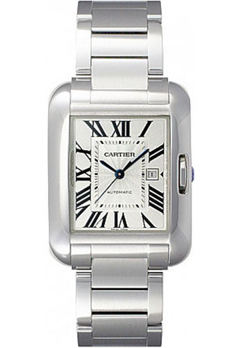 Cartier Watches - Tank Anglaise Stainless Steel - Style No: W5310009