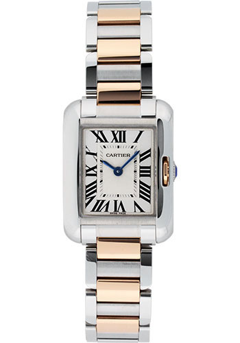 Cartier Watches - Tank Anglaise Stainless Steel and Pink Gold - Style No: W5310036