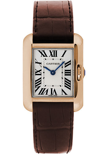 Cartier Watches - Tank Anglaise Pink Gold - Alligator Strap - Style No: W5310027