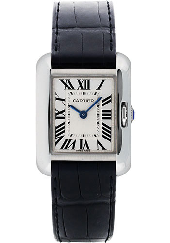 Cartier Watches - Tank Anglaise White Gold - Alligator Strap - Style No: W5310029