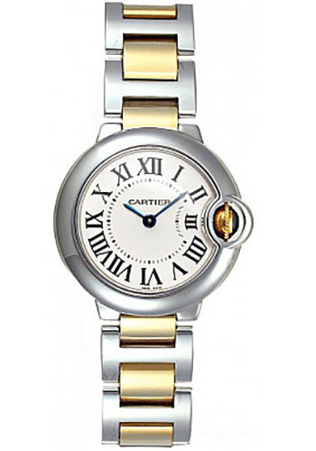 Cartier Watches - Ballon Bleu 28mm - Steel and Yellow Gold - Style No: W2BB0010