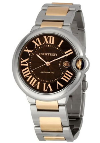 Cartier Watches - Ballon Bleu 42mm - Steel and Pink Gold - Style No: W6920032