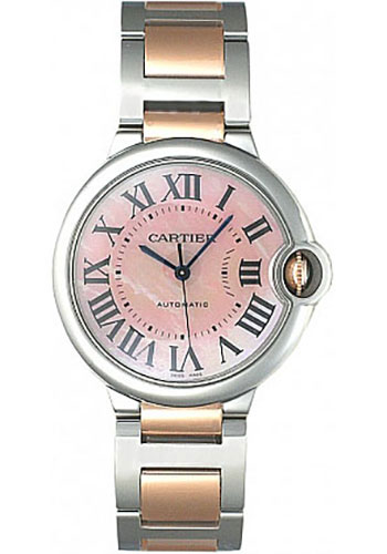 Cartier Watches - Ballon Bleu 36mm - Steel and Pink Gold - Style No: W6920033