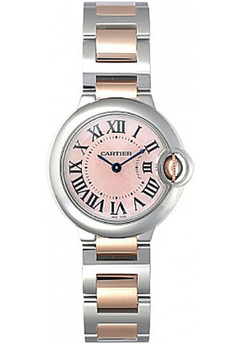 Cartier Watches - Ballon Bleu 28mm - Steel and Pink Gold - Style No: W2BB0009