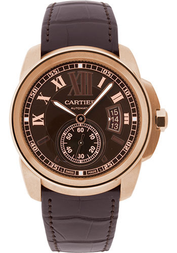 Cartier Watches - Calibre de Cartier 42mm - Automatic - Pink Gold - Style No: W7100007