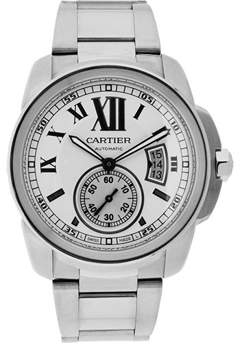 Cartier Watches - Calibre de Cartier 42mm - Automatic - Stainless Steel - Style No: W7100015