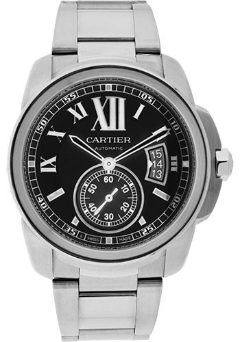Cartier Watches - Calibre de Cartier 42mm - Automatic - Stainless Steel - Style No: W7100016