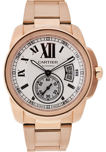 Cartier Watches - Calibre de Cartier 42mm - Automatic - Pink Gold - Style No: W7100018