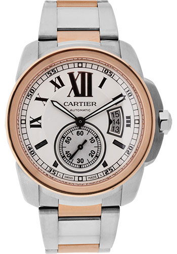 Cartier Watches - Calibre de Cartier 42mm - Automatic - Steel and Gold - Style No: W7100036