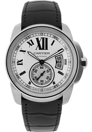 Cartier Watches - Calibre de Cartier 42mm - Automatic - Stainless Steel - Style No: W7100037