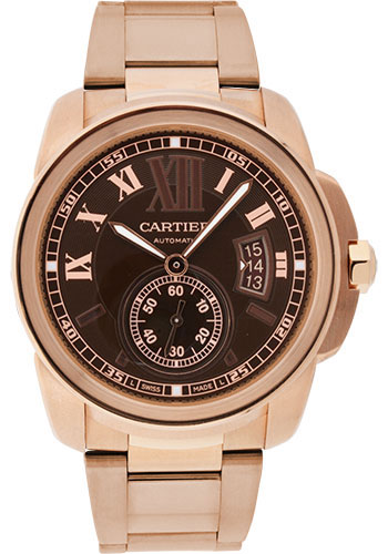 Cartier Watches - Calibre de Cartier 42mm - Automatic - Pink Gold - Style No: W7100040