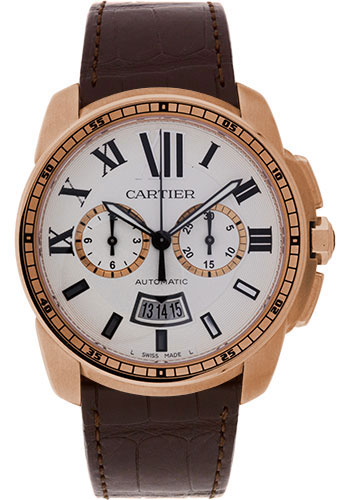 Cartier Watches - Calibre de Cartier Chronograph Pink Gold - Style No: W7100044