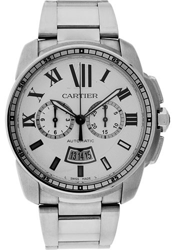 Cartier Watches - Calibre de Cartier Chronograph - Stainless Steel - Style No: W7100045