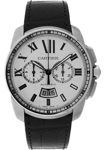 Cartier Watches - Calibre de Cartier Chronograph - Stainless Steel - Style No: W7100046