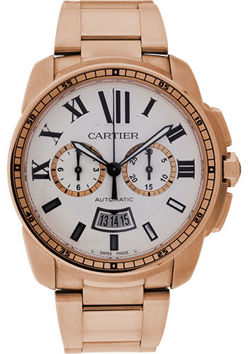 Cartier Watches - Calibre de Cartier Chronograph - Pink Gold - Style No: W7100047