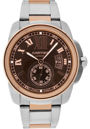 Cartier Watches - Calibre de Cartier 42mm - Automatic - Steel and Gold - Style No: W7100050