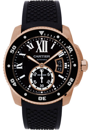 Cartier Watches - Calibre de Cartier Diver - Pink Gold - Style No: W7100052