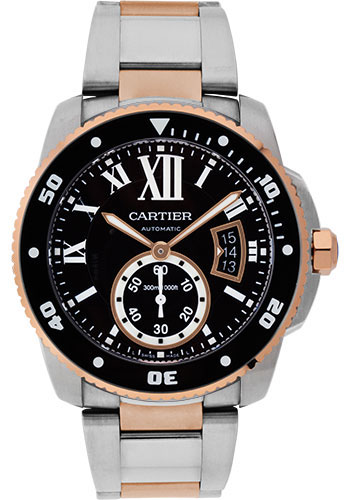 Cartier Watches - Calibre de Cartier Diver - Steel and Gold - Style No: W7100054