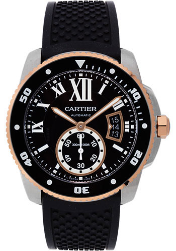 Cartier Watches - Calibre de Cartier Diver - Steel and Gold - Style No: W7100055
