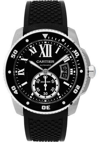 Cartier Watches - Calibre de Cartier Diver - Stainless Steel - Style No: W7100056