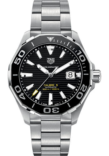 Tag Heuer Watches - Aquaracer Automatic Calibre 5 - Style No: WAY201A.BA0927