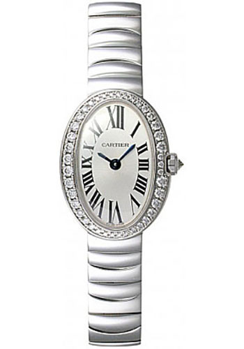 cartier baignoire mini white gold watches from swissluxury. Black Bedroom Furniture Sets. Home Design Ideas