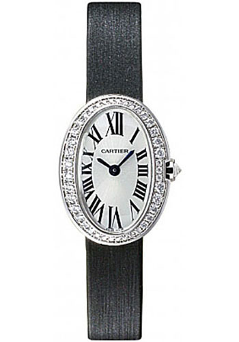 cartier wb520027 baignoire mini white gold watch. Black Bedroom Furniture Sets. Home Design Ideas