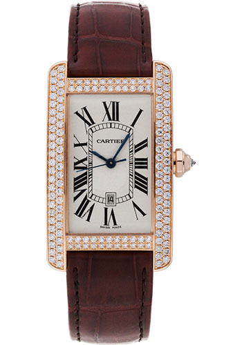 Cartier Watches - Tank Americaine Large - Pink Gold - Style No: WB704851