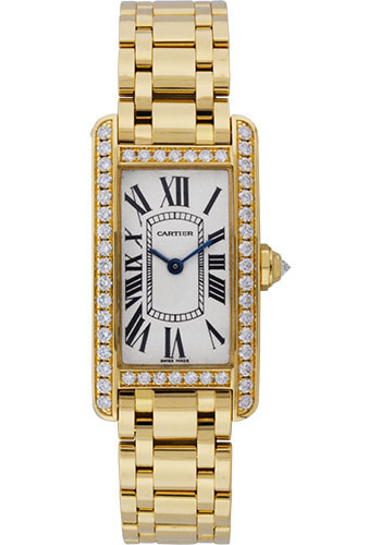 Cartier Watches - Tank Americaine Small - Yellow Gold - Style No: WB7072K2