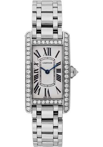 Cartier Watches - Tank Americaine Small - White Gold - Style No: WB7073L1