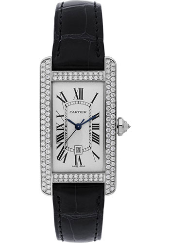 Cartier Watches - Tank Americaine Medium - White Gold - Style No: WB710002