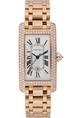 Cartier Watches - Tank Americaine Medium - Pink Gold - Style No: WB710003