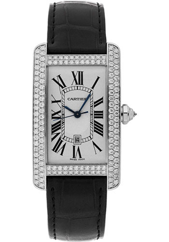Cartier Watches - Tank Americaine Large - White Gold - Style No: WB710004