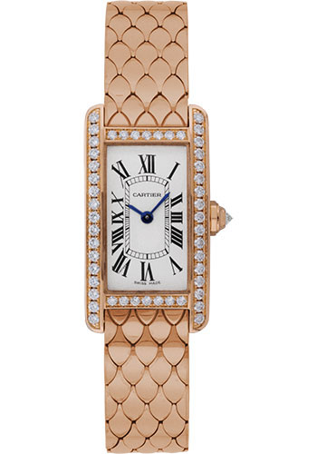 Cartier Watches - Tank Americaine Small - Pink Gold - Style No: WB710008