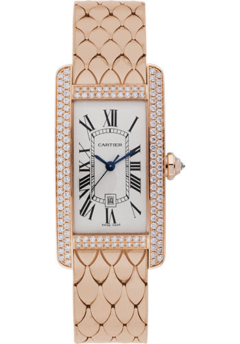 Cartier Watches - Tank Americaine Medium - Pink Gold - Style No: WB710010