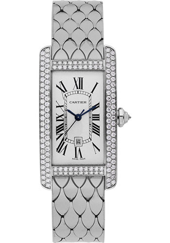 Cartier Watches - Tank Americaine Medium - White Gold - Style No: WB710011