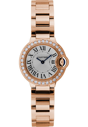 Cartier Watches - Ballon Bleu Pink Gold With Diamonds - Style No: WE9002Z3