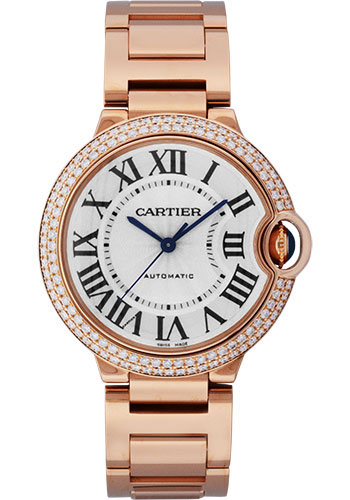 Cartier Watches - Ballon Bleu Pink Gold With Diamonds - Style No: WE9005Z3