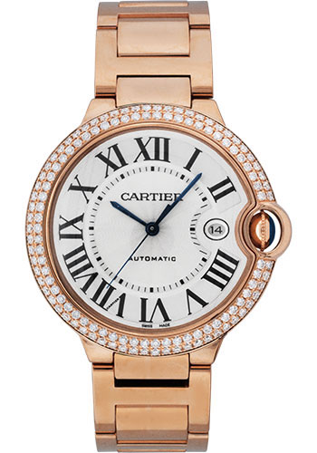 Cartier Watches - Ballon Bleu Pink Gold With Diamonds - Style No: WE9008Z3